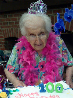 Senior Commons at Powder Mill in York, Pennsylvania Caroline Grachen Celebrates 100th Birthday