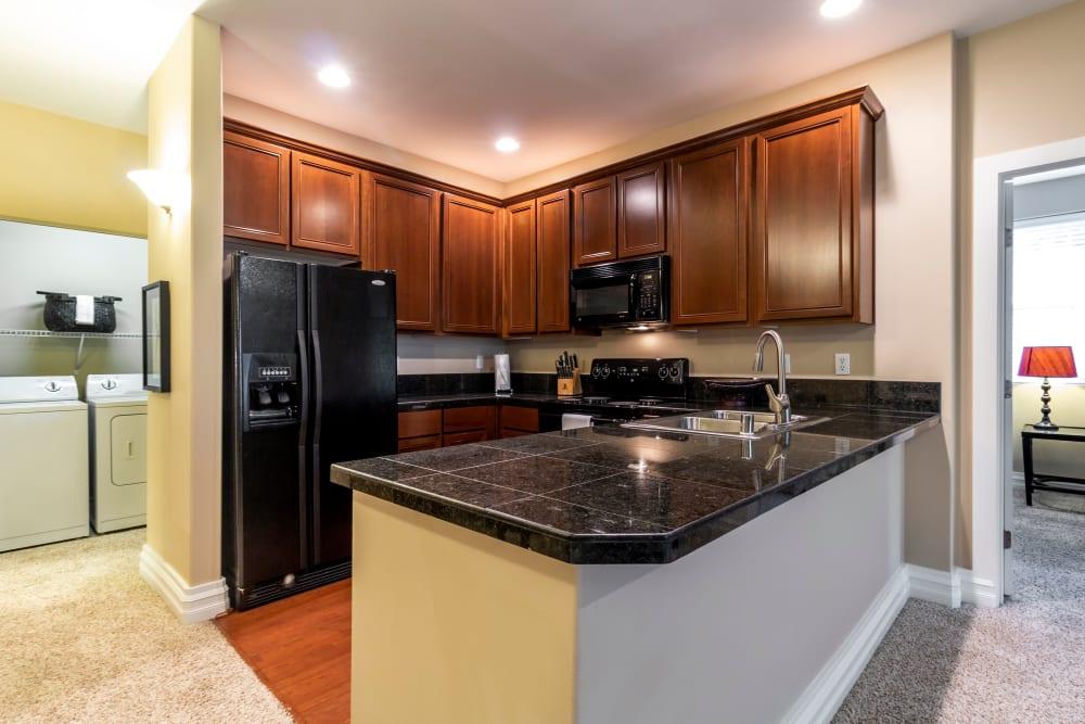 Kitchen at Apartments in Puyallup, Washington