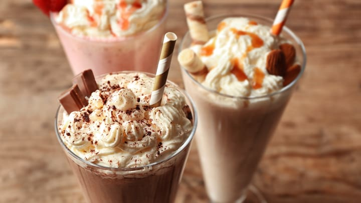 Delectable milkshakes at a shop near Wimberly at Deerwood in Jacksonville, Florida