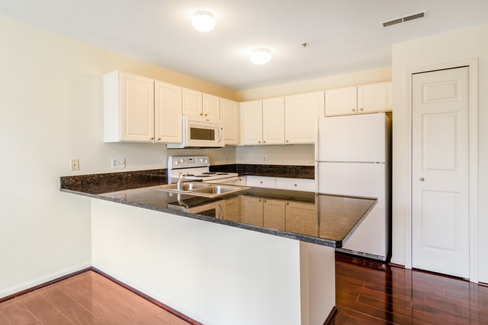 Apartments with hardwood floors at Central Park Estates in Novi, Michigan