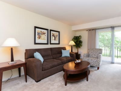 Lumberton Apartment Homes offers a beautiful living room in Lumberton, New Jersey