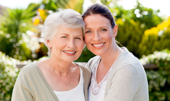 Mother and daughter at Wyndham Court of Plano in Plano, Texas