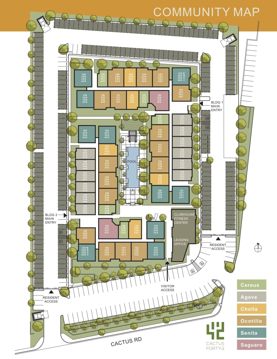 Cactus Forty-2 site plan