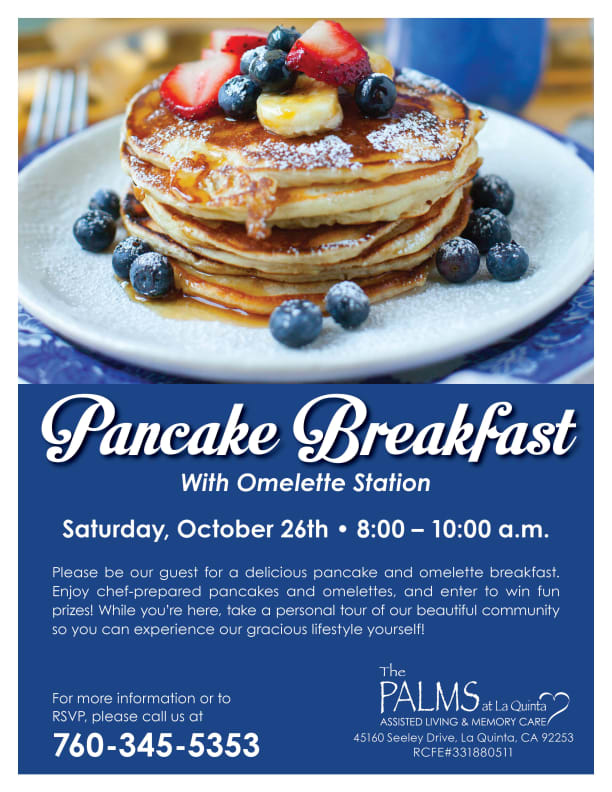 Open event at The Palms at La Quinta Assisted Living and Memory Care.