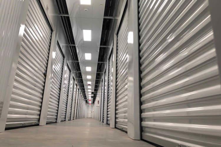 Indoor storage units at Monster Self Storage in Savannah, Georgia