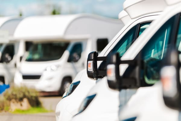 RVs parked at Storage Landing in Buda, Texas