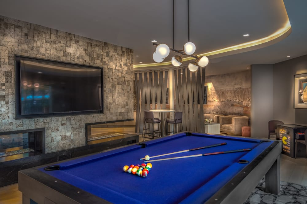 A pool table that is great for entertaining at apartments in Malden, Massachusetts