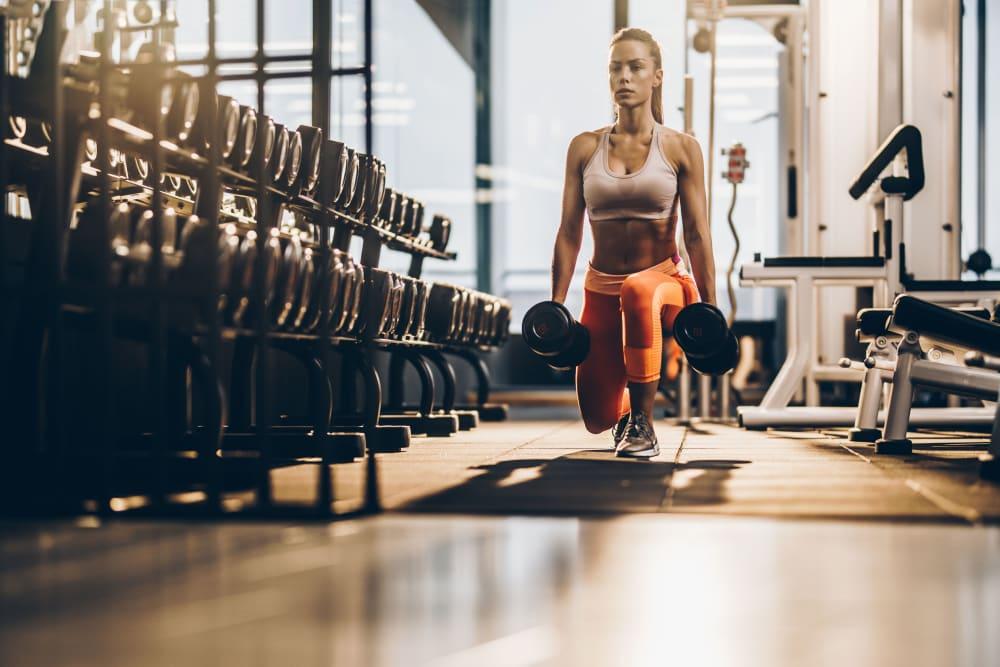 24/7 Fitness center at Eighteen51 Brinker in Denton, Texas