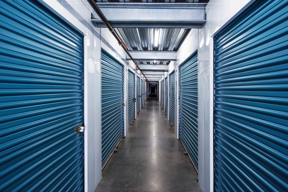 Interior self storage units at Smart Self Storage of Solana Beach