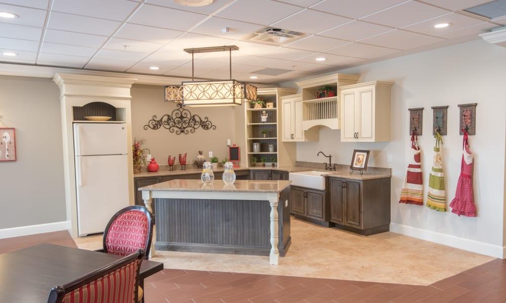Country kitchen at Inspired Living in Bonita Springs, Florida