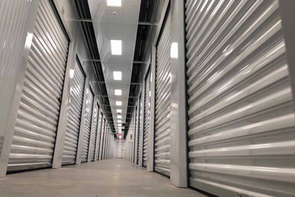 Indoor storage units at Monster Self Storage in Warner Robins, Georgia
