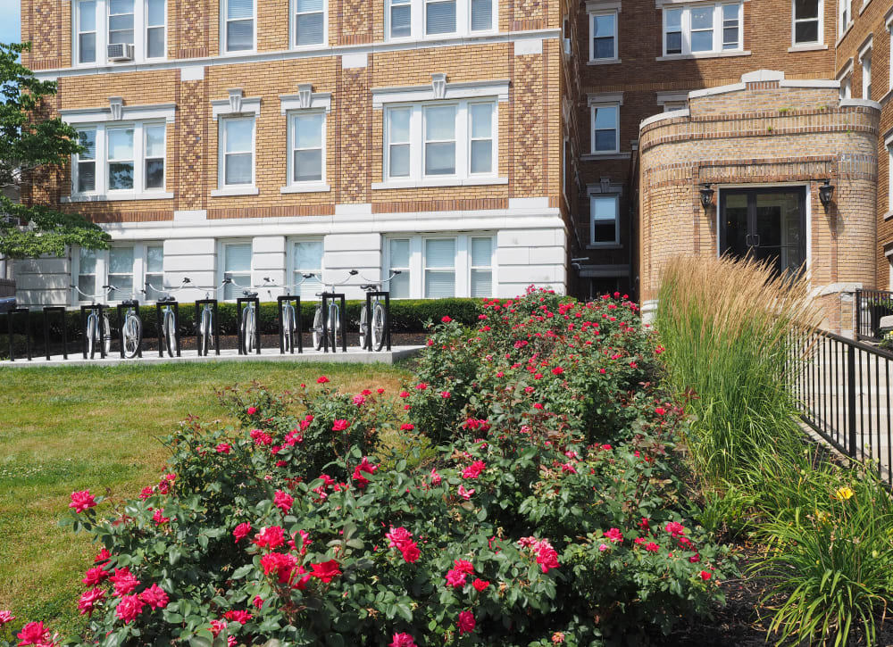 Lush landscaping at CSRE in Lakewood, New Jersey
