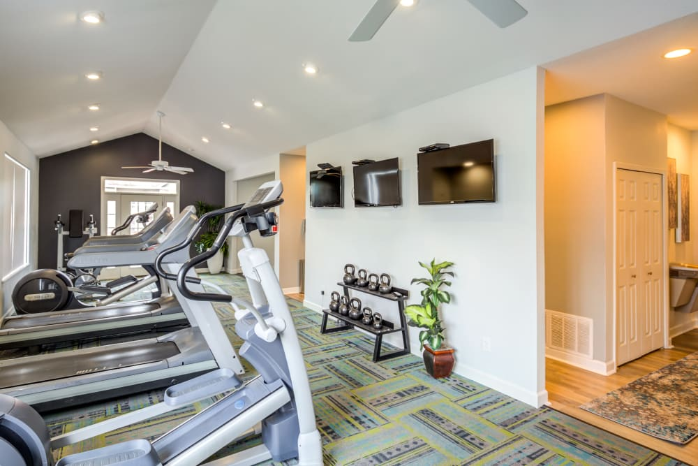 Our exercise facility at our apartments for rent in Lawrence