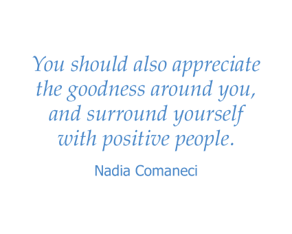 Nadia Comaneci quote for Maple Ridge Senior Living in Ashland, Oregon
