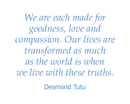 Desmond Tutu quote for Maple Ridge Senior Living in Ashland, Oregon