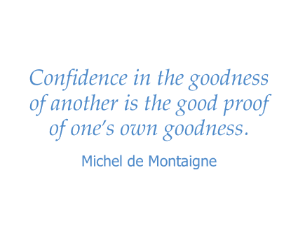 Michel de Montaigne quote for Maple Ridge Senior Living in Ashland, Oregon