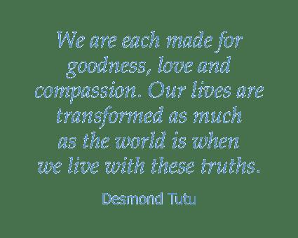 Desmond Tutu quote at Honeysuckle Senior Living in Hayden, Idaho