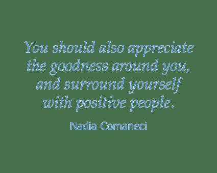 Nadia Comaneci quote at Absaroka Senior Living in Cody, Wyoming