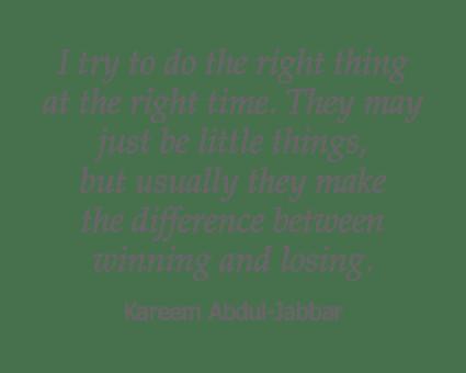 Kareem Abdul-Jabbar quote for Garden Place Columbia in Columbia, Illinois