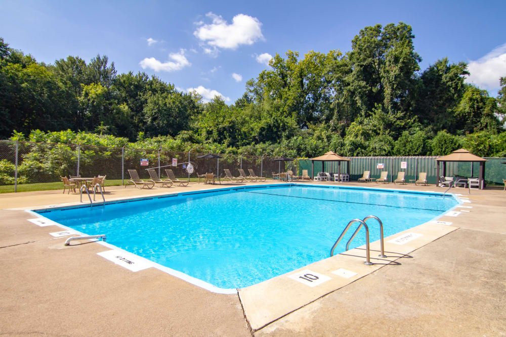Our apartments in Enfield, Connecticut showcase a beautiful swimming pool