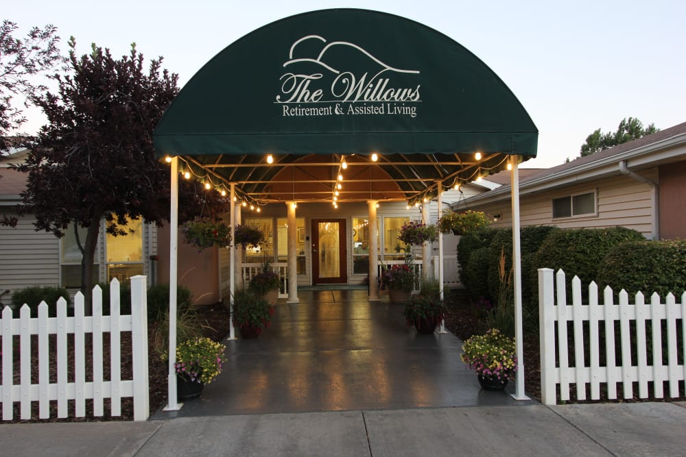 Entrance at The Willows Retirement & Assisted Living in Blackfoot.