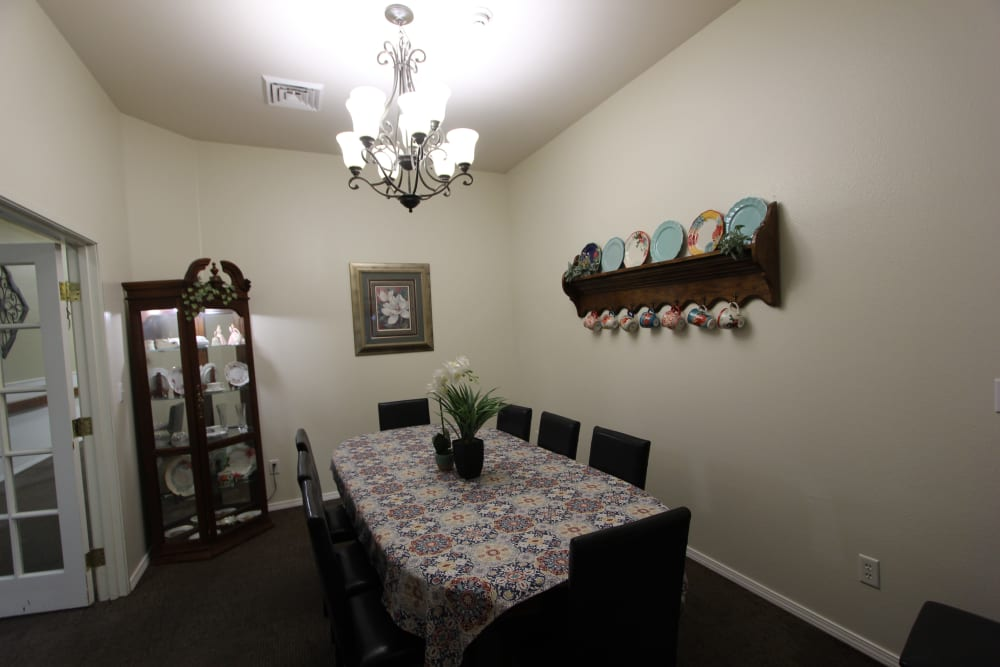 Private Dining Area At The Willows Retirement & Assisted Living.