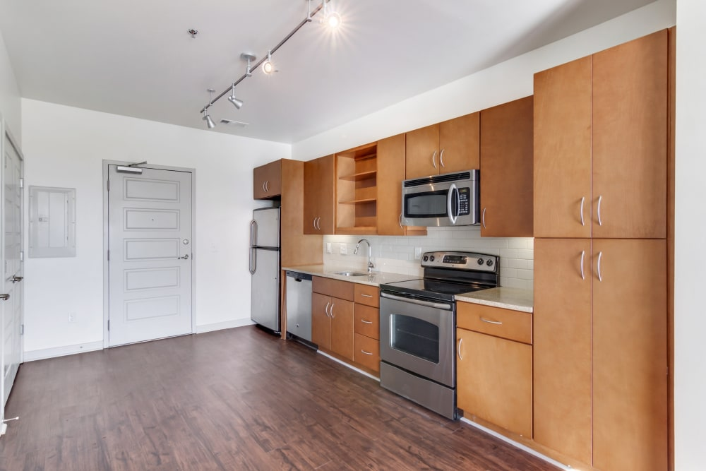 Open kitchen at 12 South Apartments in Nashville, Tennessee