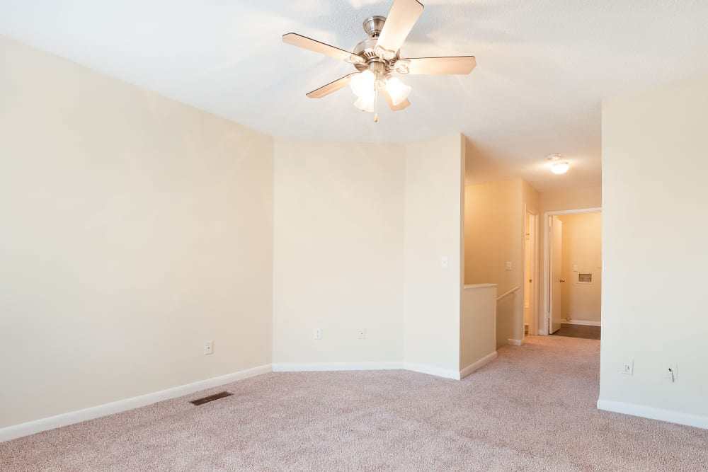 Spacious room with carpet at The Hills at Oakwood in Chattanooga, Tennessee