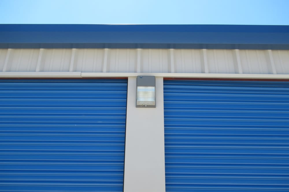 Outdoor storage units with roll up doors at Springtown Self Storage