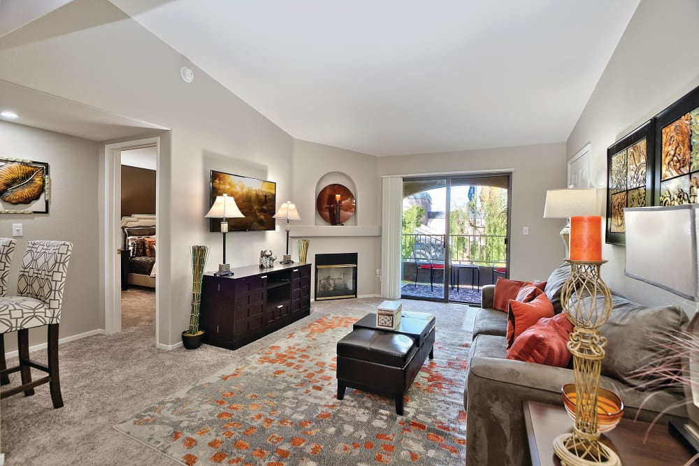 Spacious Living Room at Cielo Apartment Homes in Henderson, Nevada