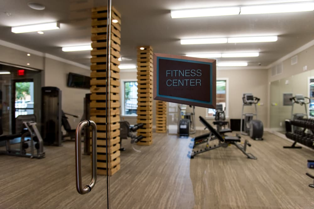 Luxury fitness center at The Reserve on Bayou DeSiard in Monroe, Louisiana