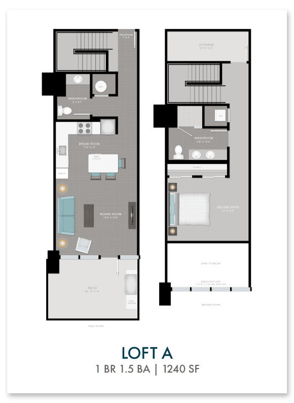 Altitude loft A floor plan in Atlanta, GA
