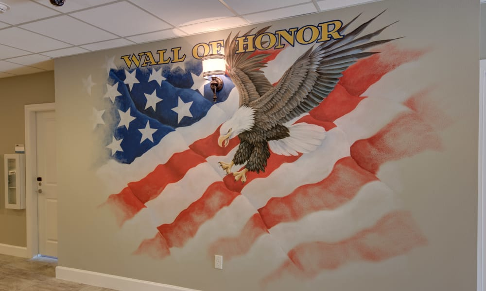 Wall of honor at Inspired Living in Tampa, Florida