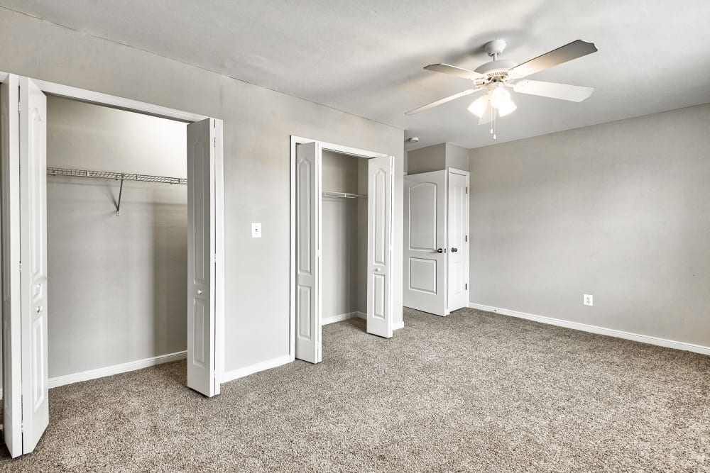 Bedroom with closets at