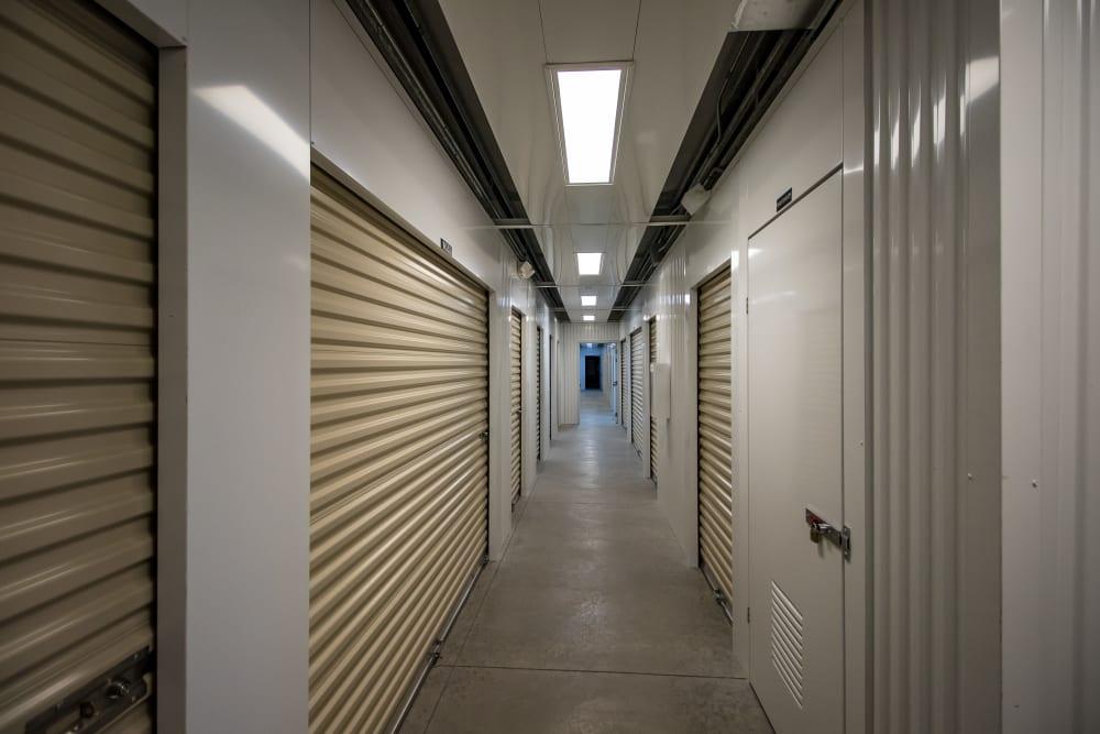 Interior storage units at Neighborhood Storage