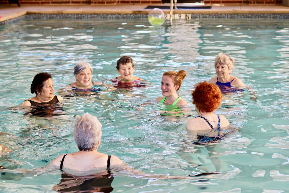 Water aerobics at Watermere at the Preserve in Southlake, Texas