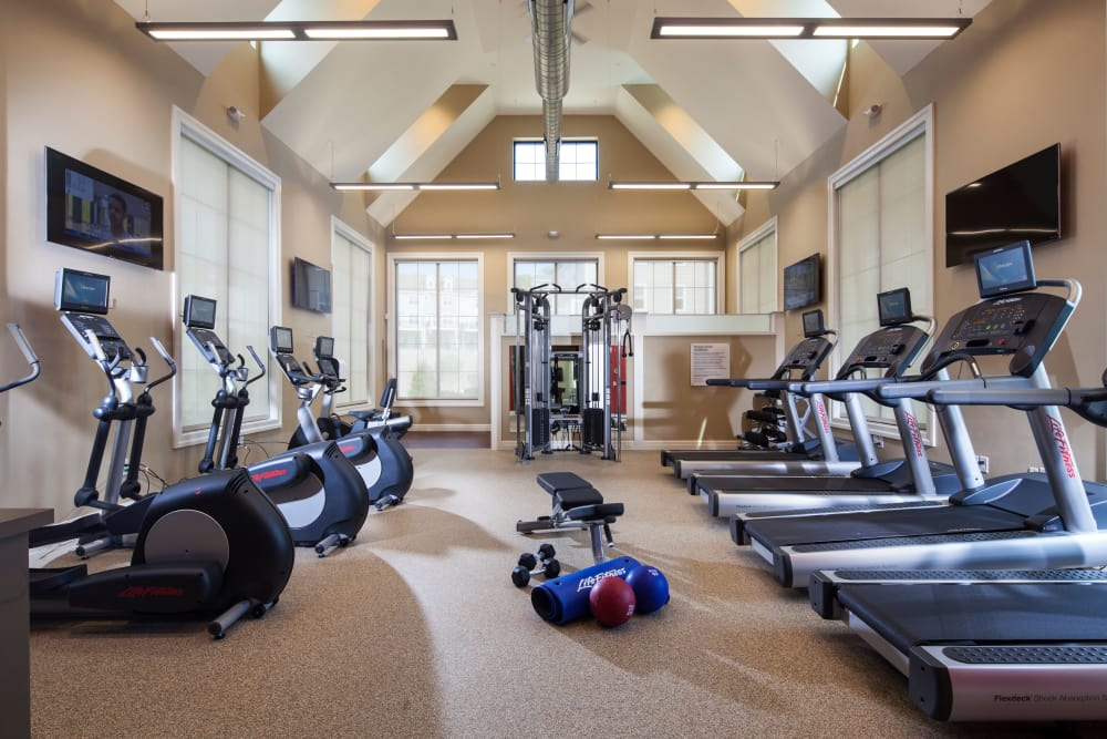 State-of-the-art fitness center at Prynne Hills in Canton, Massachusetts