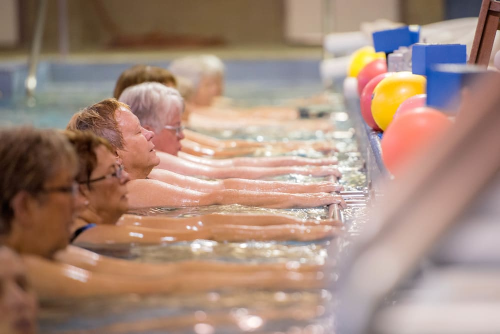 The community pool for residents at Touchmark on West Century in Bismarck, North Dakota