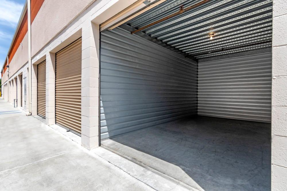 Variety of drive-up units at National/54 Self Storage