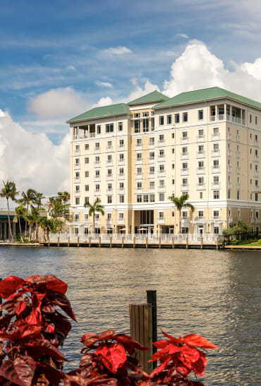 The Meridian at Waterways offers beautiful river views in Fort Lauderdale, Florida.