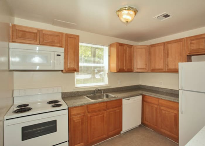 Kitchen at Woodcrest Arms Apartment Homes
