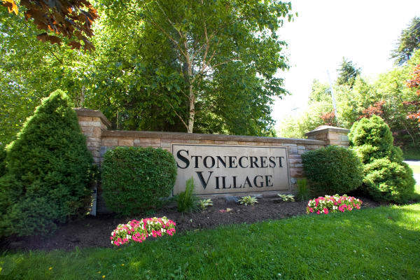 Front sign at StoneCrest Village in Halifax