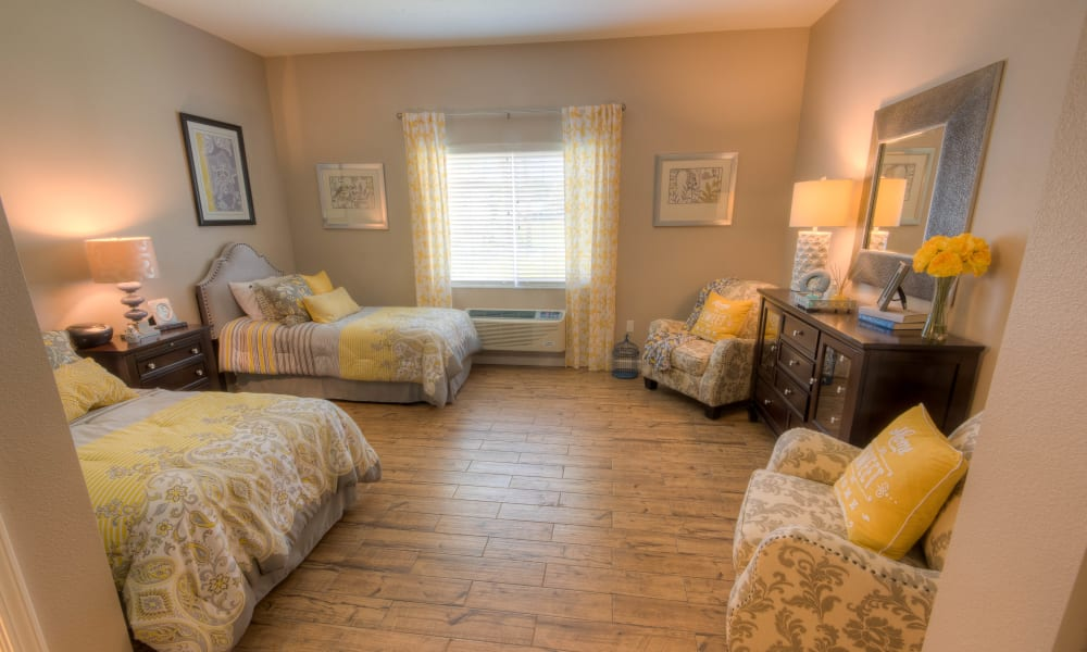 A companion room at Inspired Living in Sun City Center, Florida