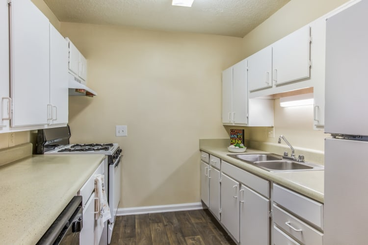 Oconee Springs Apartments showcases a beautiful kitchen in Gainesville, Georgia