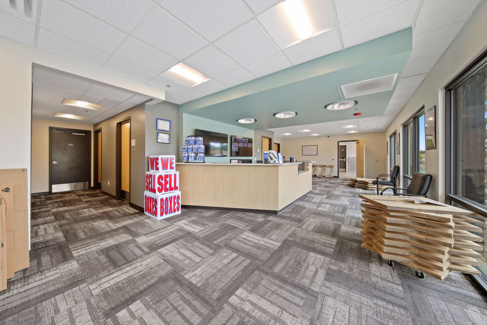 Interior of the leasing office at Storage Star Ben White in Austin, Texas