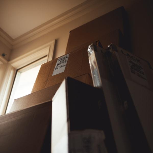 Storage boxes at Stor'em Self Storage in San Diego, California