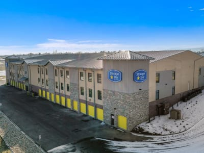 Exterior storage units at Market Place Self Storage in Park City, Utah