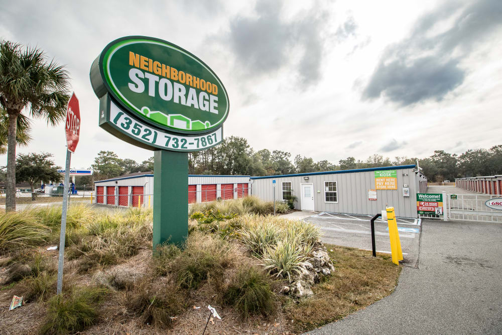 Storage units at Neighborhood Storage in Ocala, Florida