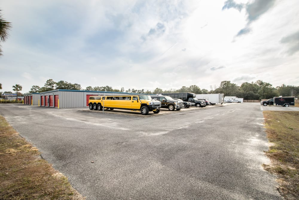 Storage parking area at Neighborhood Storage in Ocala, Florida