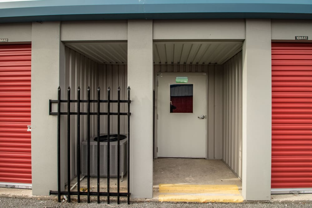 Air conditioner features in self storage units at Neighborhood Storage